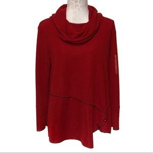 Cowl Neck Textured Blouse